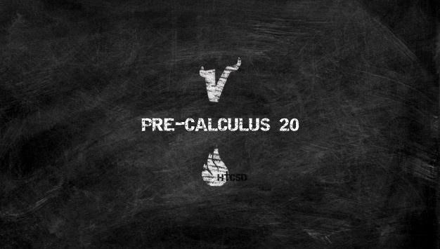 Course Image Pre-Calculus 20 - Douglas